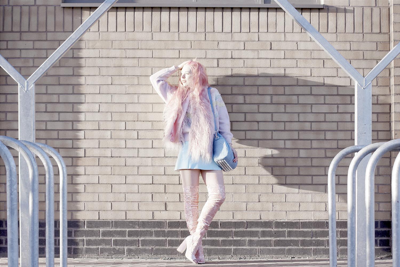 Alexander Wang, Rockie Bag, Studded, Pink Velvet, Thigh High Boots, Pastel, Outfit, Designer bag, designer, cross body,